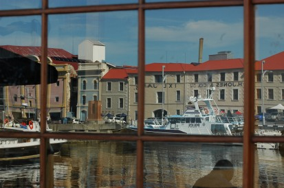 Hobart Wharf Reflection2