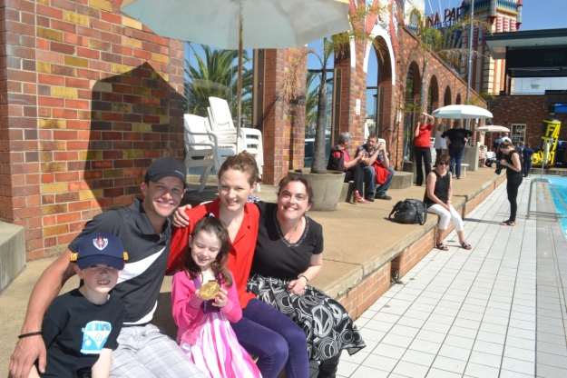 Family with Cate Campbell Xfactor