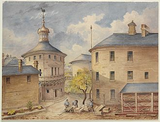 darlinghurst-gaol-watercolour-louis-bertrand-1891