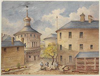 darlinghurst-gaol-watercolour-louis-bertrand-1891