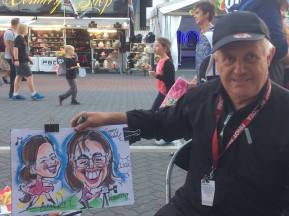 caricature finished with Graeme
