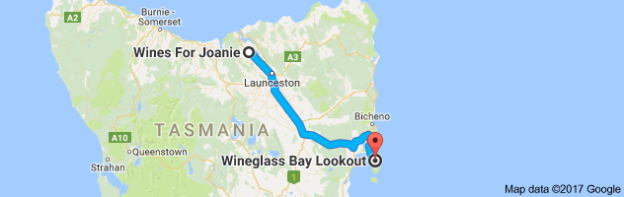 Map to Wineglass Bay