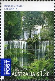 Russell Falls Stamp