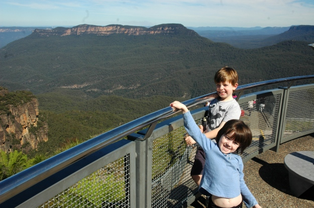 Kids at Echo Point Katoomba