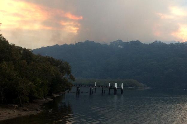 Bushfire Woy Woy Bay 2