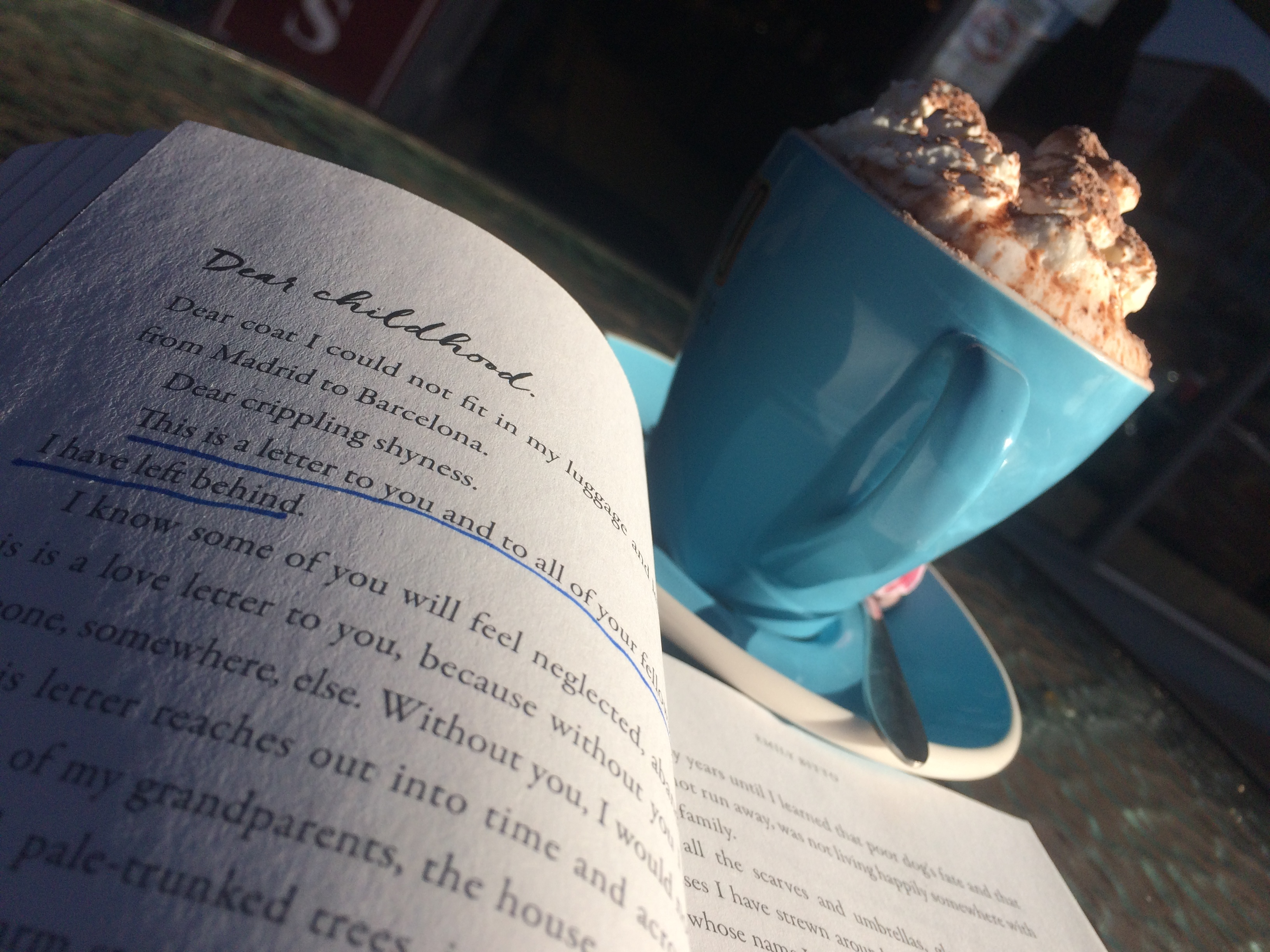 Hot chocolate & book