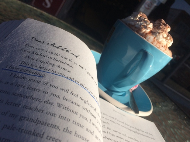 Hot chocolate & book