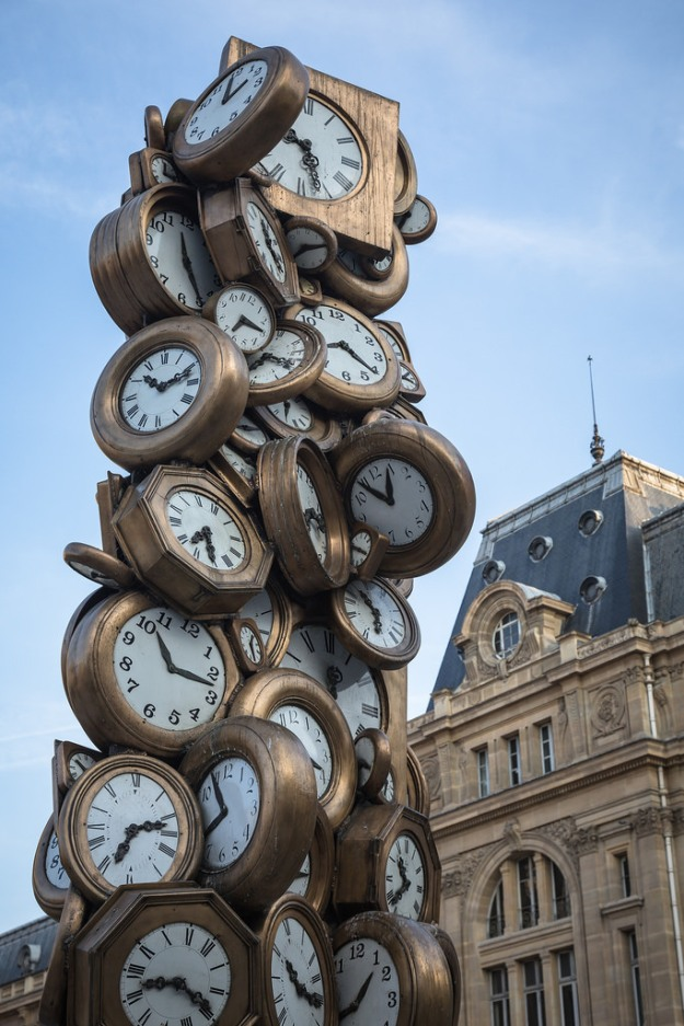 Clock Sculpture Paris