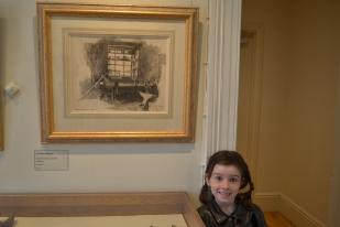 Amelia with Hans Heysen smithy