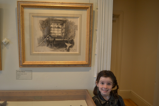 Amelia with Hans Heysen smithy.JPG