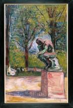 Edvard Munch Le Penseur de Rodin