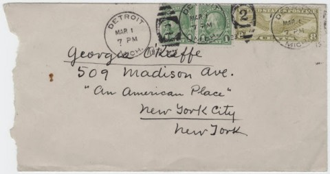 Envelope to Georgia O'Keeffe