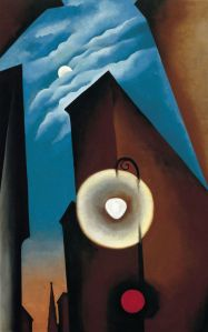 _Georgia_O'Keeffe_-_New_York_Street_with_Moon__1925