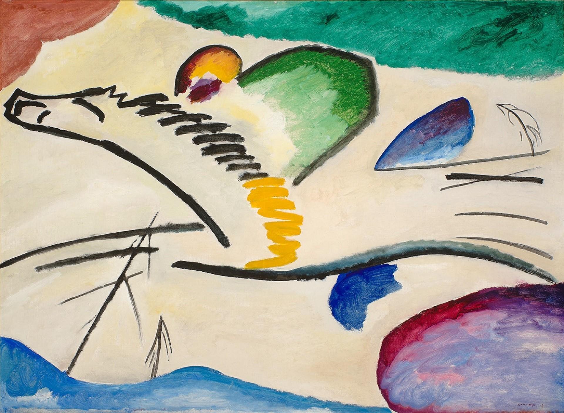 Wassily_Kandinsky,_1911,_Reiter_(Lyrishes),_oil_on_canvas,_94_x_130_cm,_Museum_Boijmans_Van_Beuningen