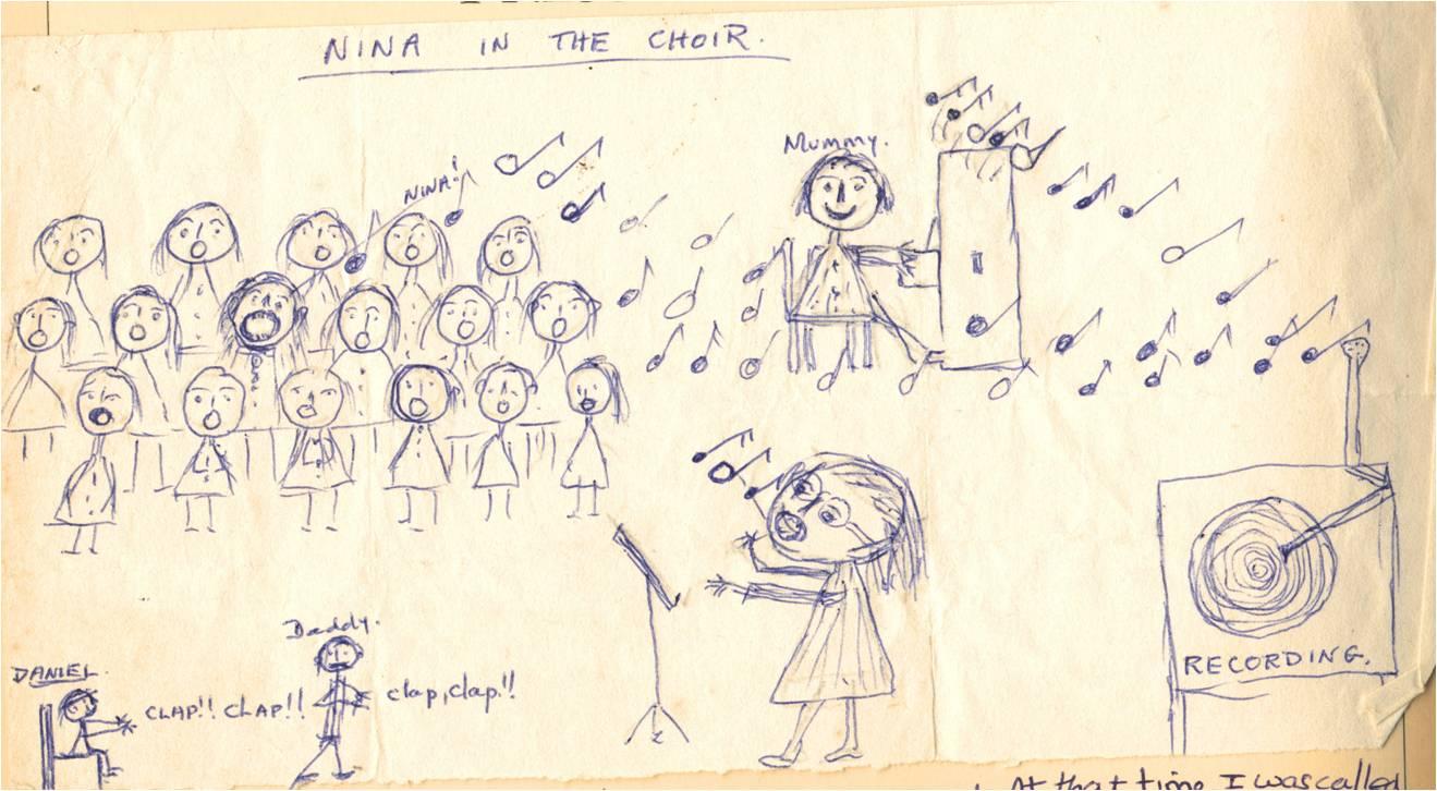 Choir drawing 1975
