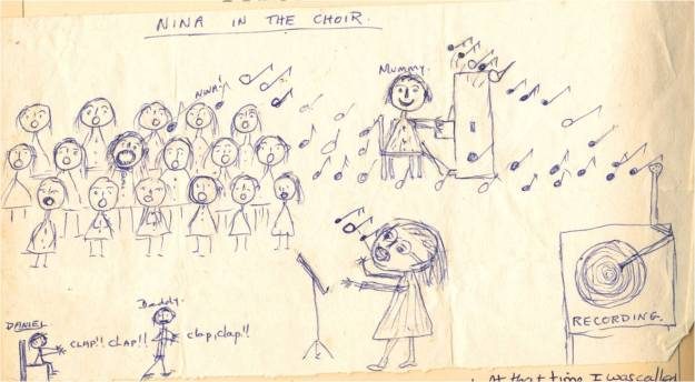 Choir drawing 1975