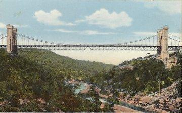 1910 circa Suspension Bridge German postcard