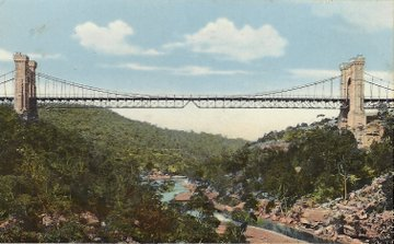 1910 circa Suspension Bridge German postcard