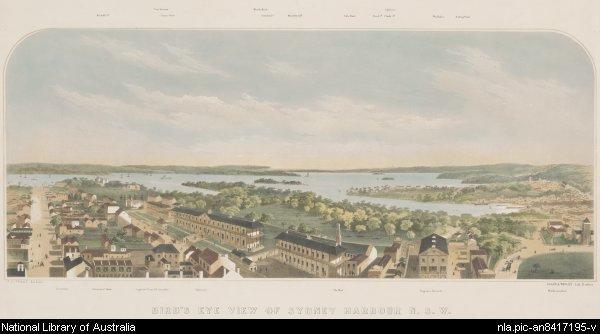 Sydney Harbour 1860