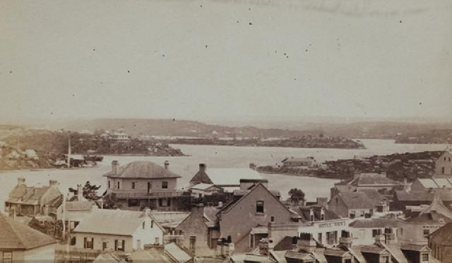 View Sydney Harbour 1870