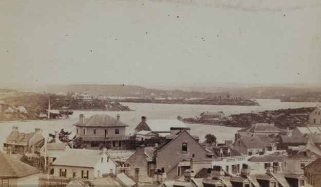 View Sydney Harbour 1870