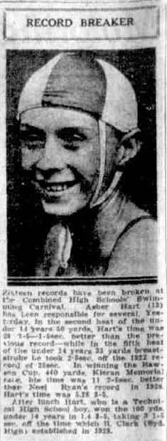 Asher Hart 1931 record Breaker