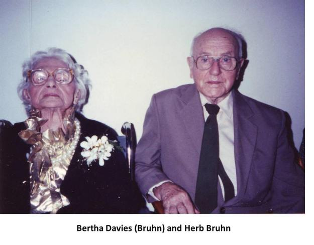 Bertha Davies (nee Bruhn) and Herb Bruhn