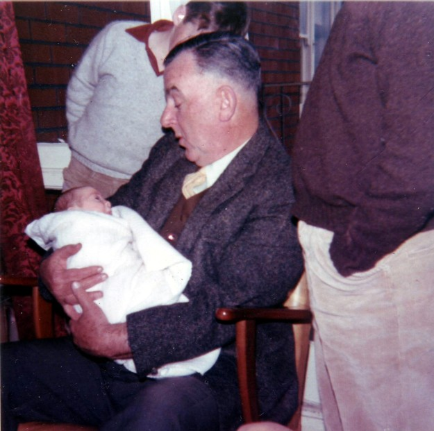 Papa Curtin with Rowena 1969
