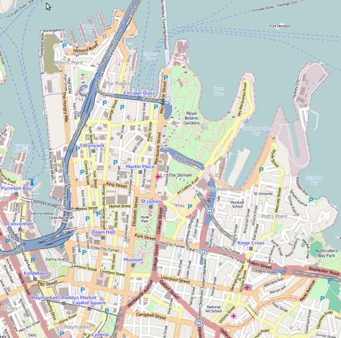 Map of Elizabeth bay & Sydney