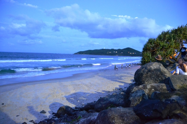 byron bay night