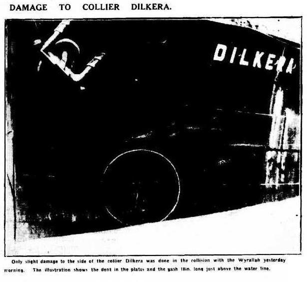 Dilkera 2 after collision Argus April 10