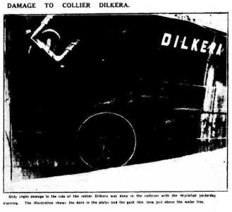 Dilkera 2 after collision Argus April 10