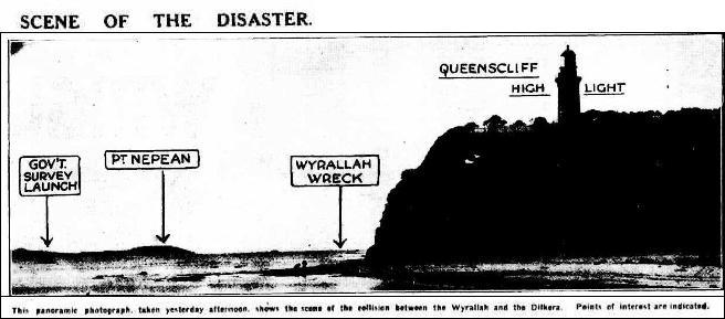 Map Wyrallah wreck site