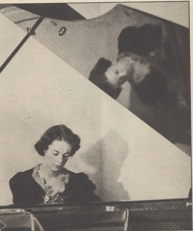 Pix Eunice playing piano at Academy