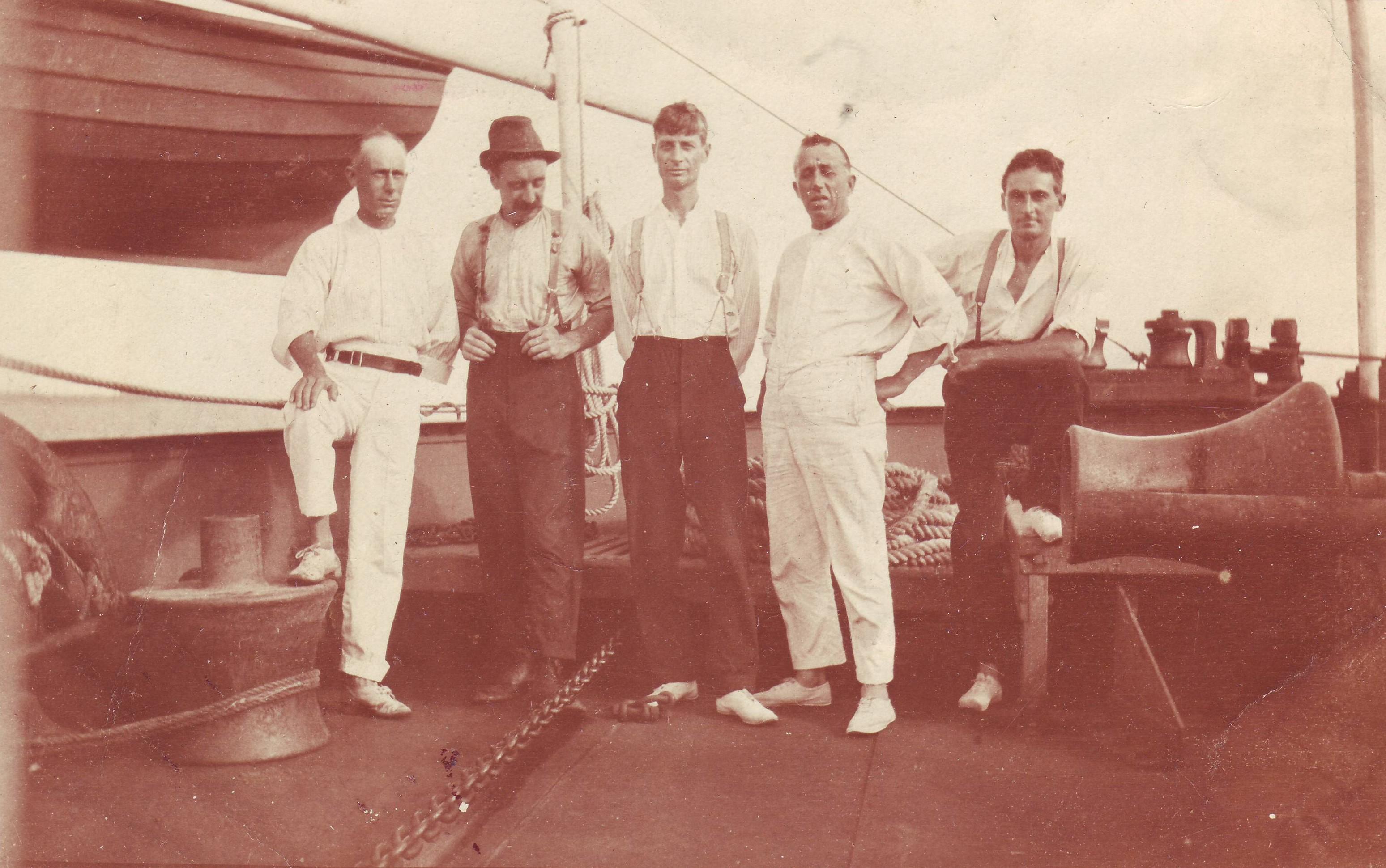 Reuben Gardiner on ship