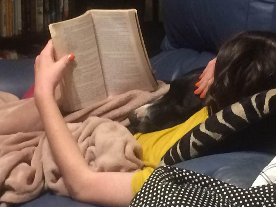 Zac & Amelia reading
