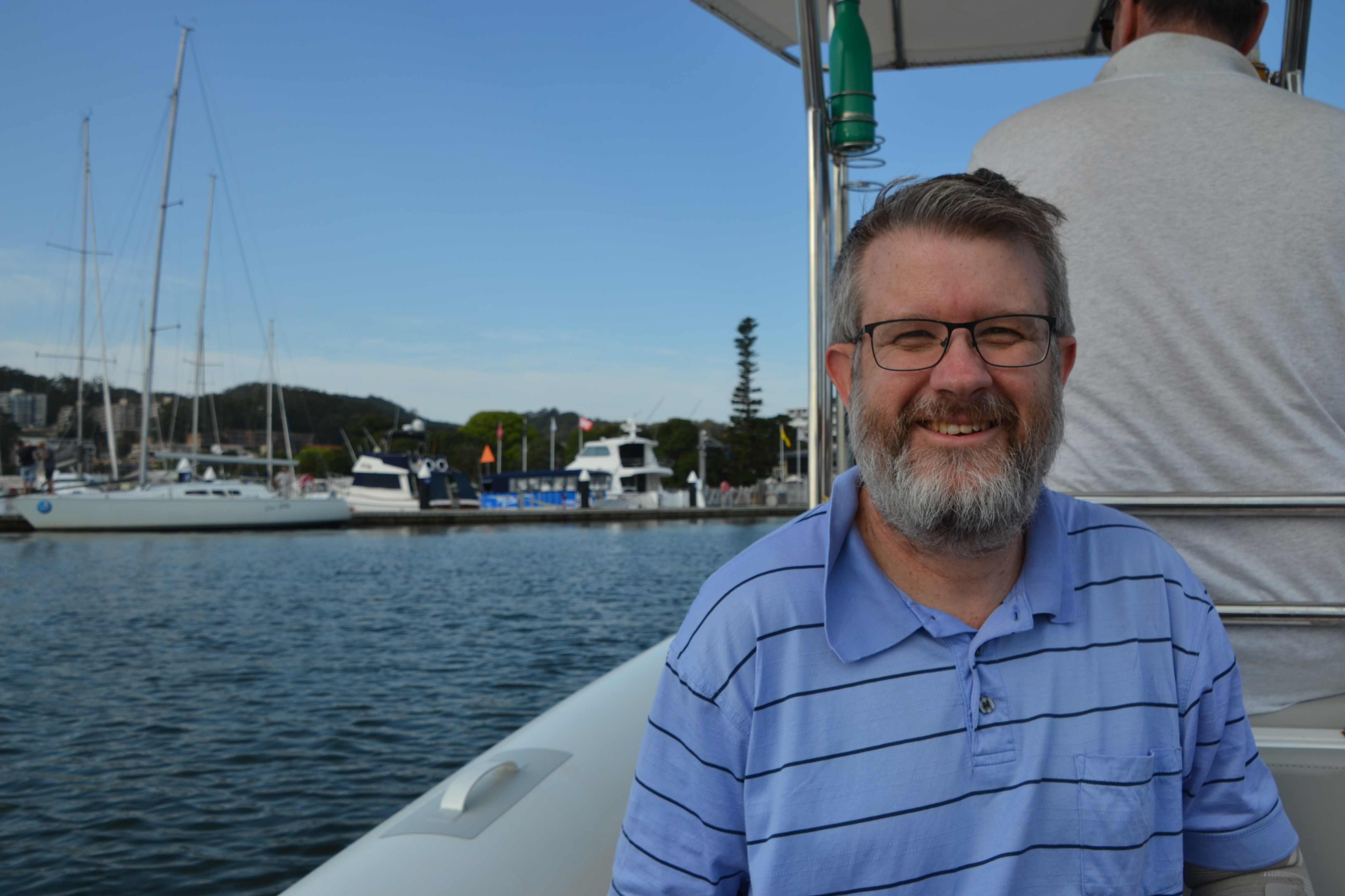 Geoff sailing