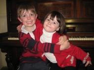 Amelia & Jonathon piano 2010