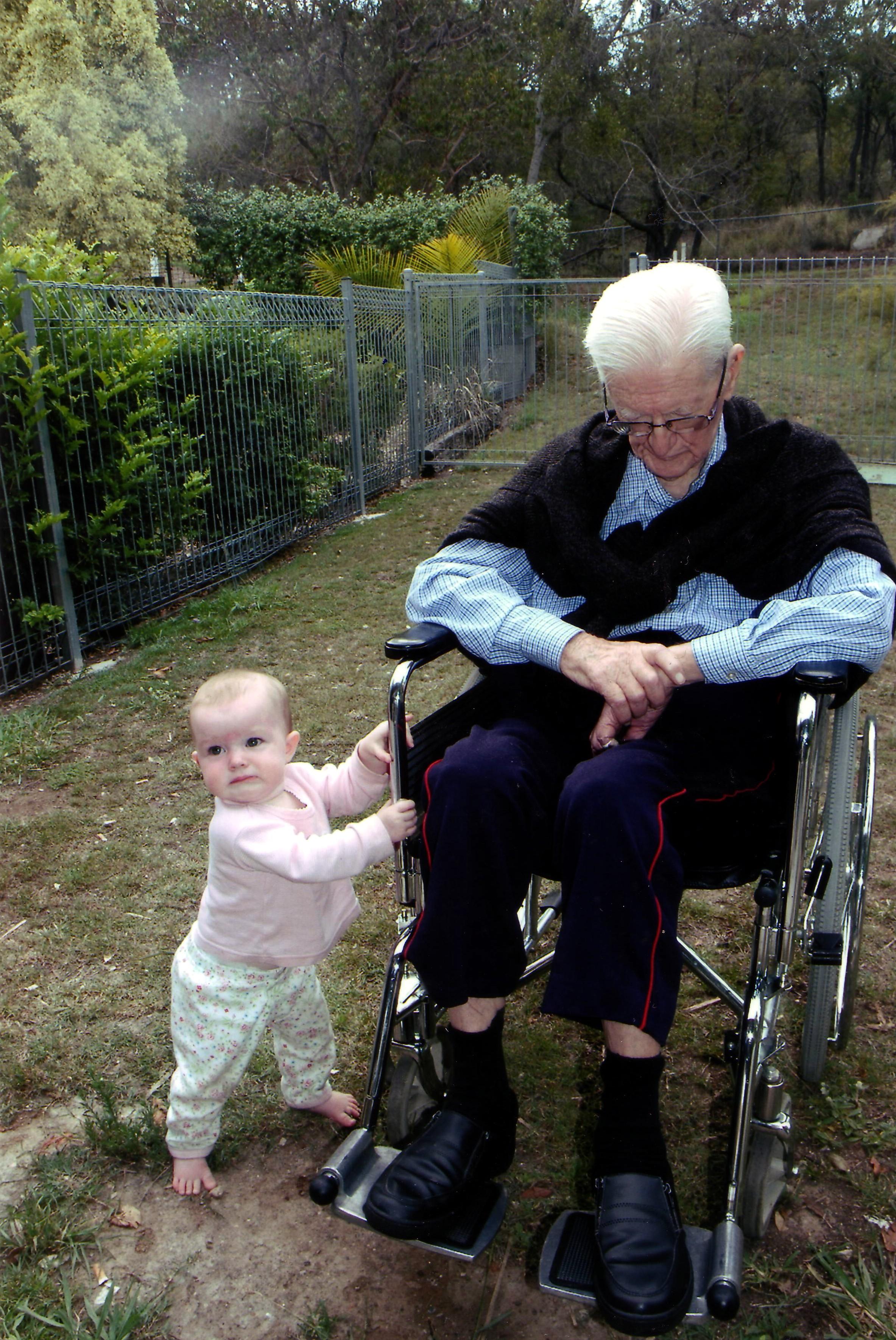 Amelia Papa Bert Wheelchair