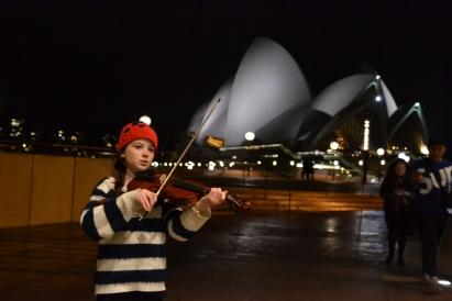 Amelia violin Opera House Steps