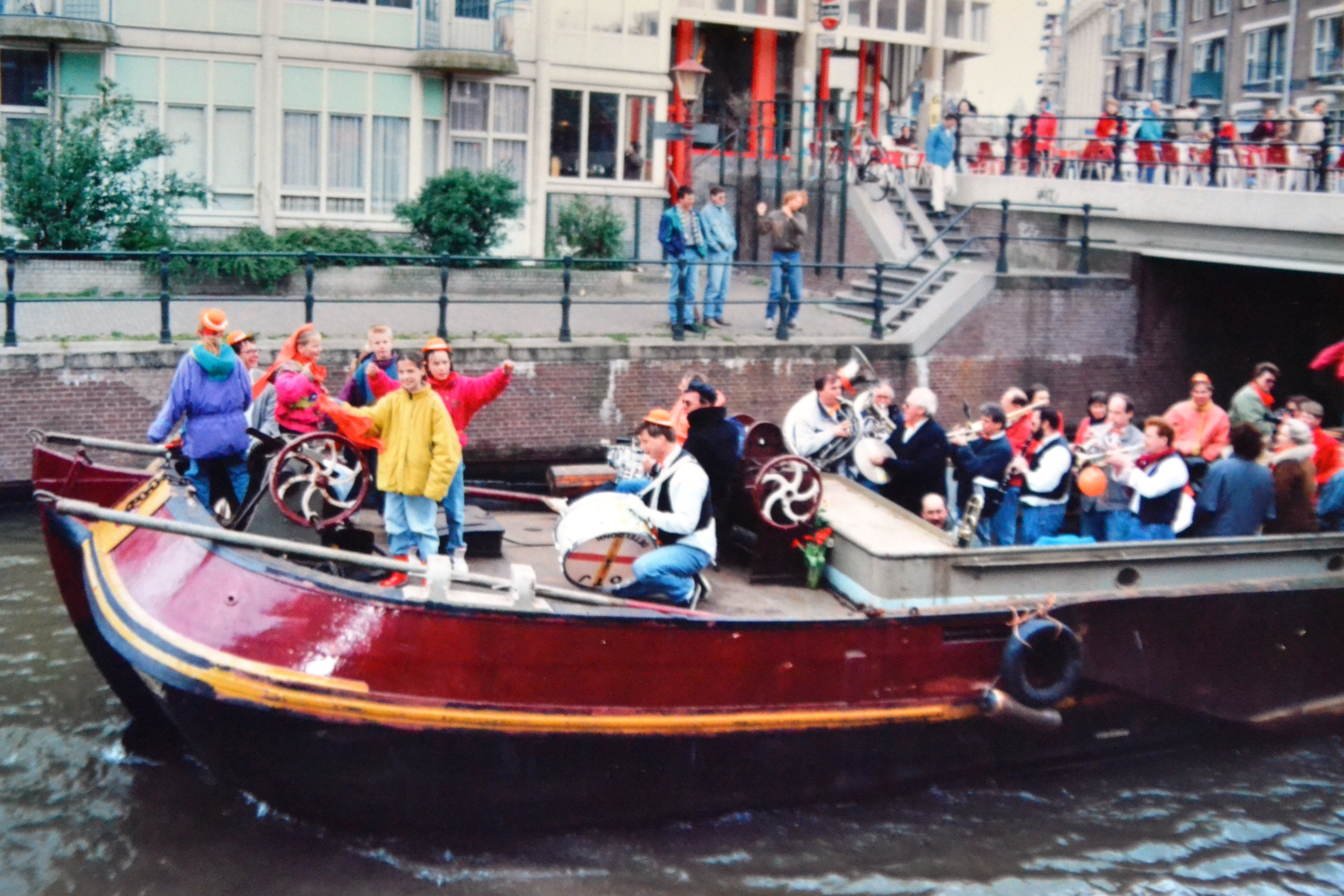 Amsterdam barge on canal