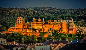 Heidelberg castle by night