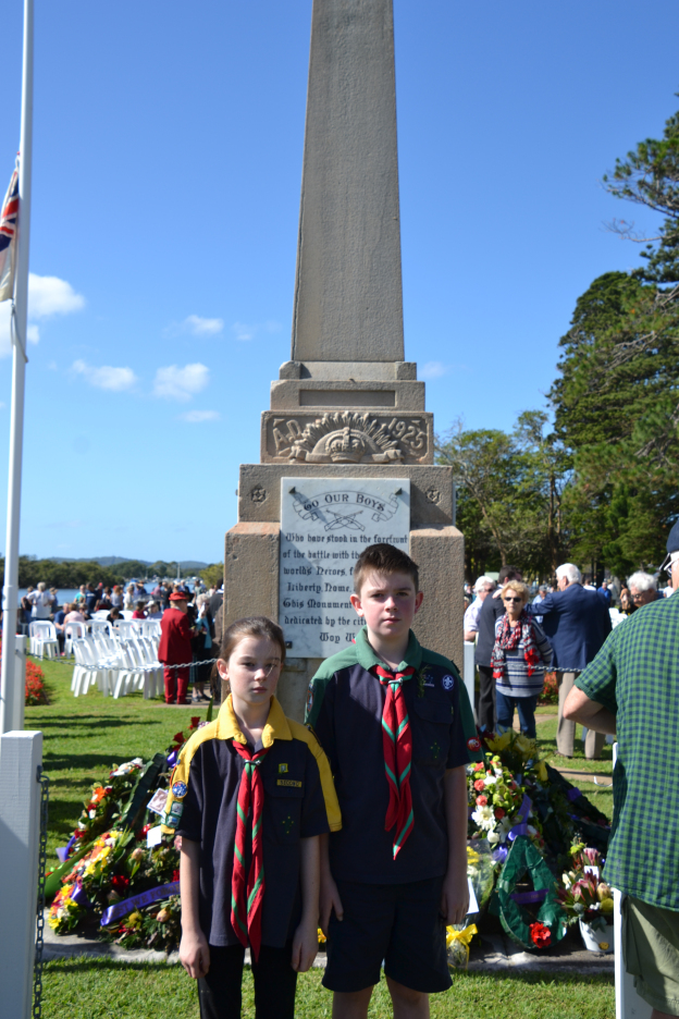 Kids at the cenotaph