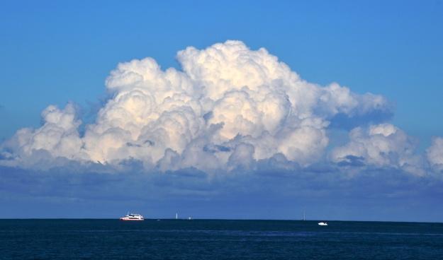 Ferry and big clouds2