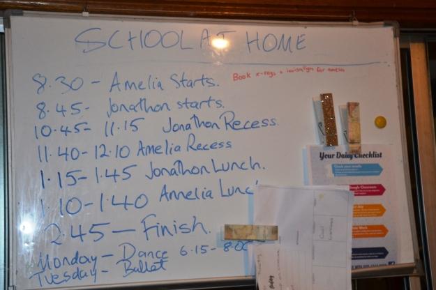 school whiteboard