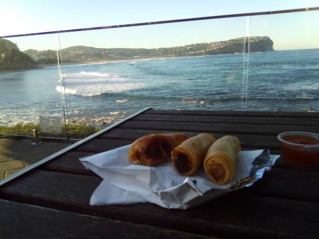 spring rolls MacMasters Beach